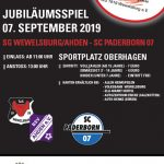JUBILÄUMSSPIEL: SG WEWELSBURG/AHDEN – SC PADERBORN 07